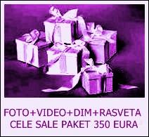 FOTO+VIDEO+DIM+RASVETA CELE SALE PAKET 350 EURA